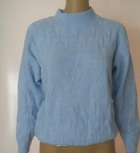 Powder blue knit sweater